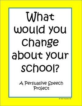 Persuasive Speeches - Group Project
