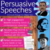 Persuasive Speeches: Pack 1 (DISTANCE LEARNING supported)