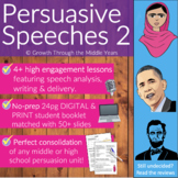 Persuasive Speeches: Pack 2 (DISTANCE LEARNING supported)