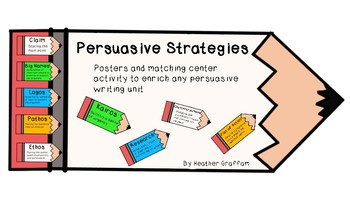 Persuasive Strategies Posters and Center Activity