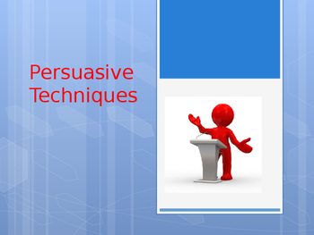 Persuasive Technique Powerpoint