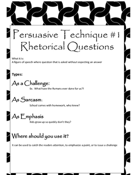 Persuasive Techniques Anchor Charts