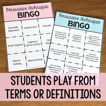 Persuasive Techniques Bingo!