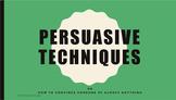 Persuasive Techniques Bundle [MTV Activity!]