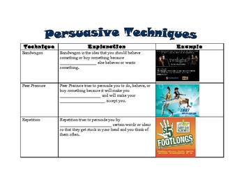 Persuasive writing techniques pdf