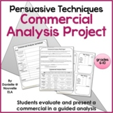 Persuasive Techniques Commercial Analysis Project