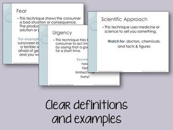 Persuasive Techniques FREE PowerPoint (3-5)