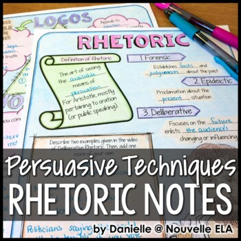 Persuasive Techniques - Introduction to Rhetoric Sketch & Learn