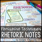 Persuasive Techniques - Introduction to Rhetoric Doodle Notes