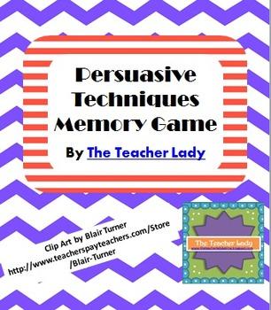 Persuasive Techniques Memory Game
