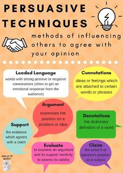 Persuasive techniques in essays