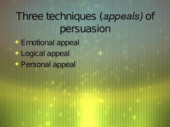 Persuasive Techniques PowerPoint