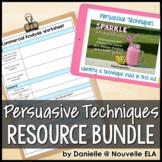 Persuasive Techniques Unit - PowerPoint & Project Bundle