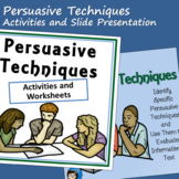Persuasive Techniques - PowerPoint and Worksheets
