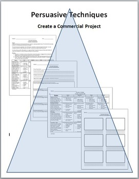 Persuasive Techniques Presentation and Project Bundle