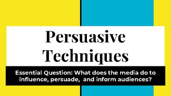 Persuasive Techniques Presentation with Video
