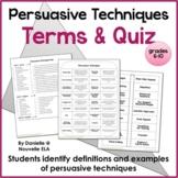 Persuasive Techniques Quiz
