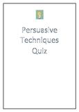 Persuasive Techniques VCE Quiz