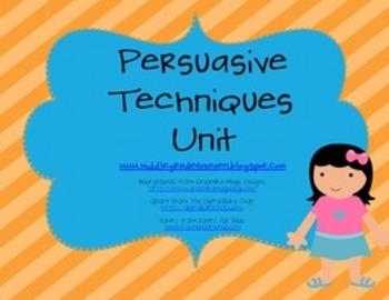 Persuasive Techniques Unit: Bulletin Board, PowerPoint, and Handouts