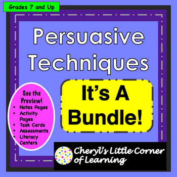 Persuasive Techniques for Middle School - Media Literacy Ads/SOL 8.3