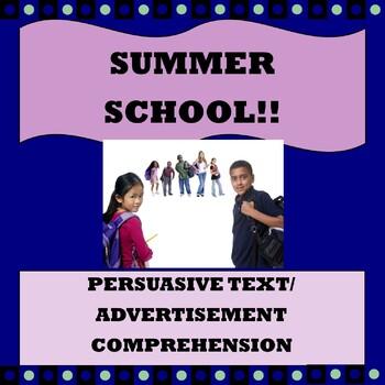 "Persuasive Text/ Advertisement Comprehension ""Summer School"""