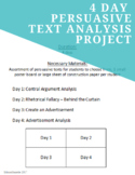 Persuasive Text Analysis Project
