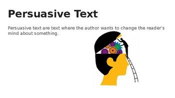 Persuasive Text Mini-Lesson