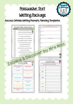 NAPLAN Persuasive Text - Templates - Persuasive Devices - Success Criteria