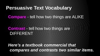 Persuasive Text Vocabulary Power Point