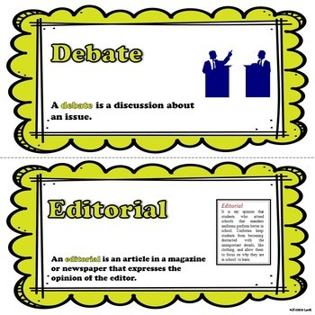 Word Wall Words for Persuasive Text