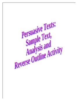 Persuasive Text and Analysis-The Negative Influence of Television