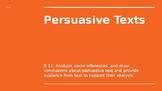 Persuasive Texts Powerpoint