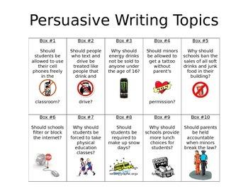 Persuasive Topic Choice Board