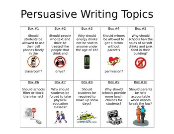 Persuasive Topic Choice Board
