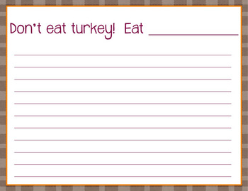 Persuasive Turkey Craft and Writing Acitivity