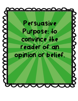 Persuasive Unit Pack and Literacy Centre