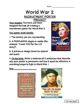Persuasive War Recruitment Poster Project