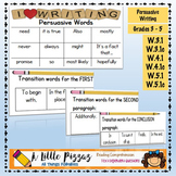 Persuasive Writing Linking Words & Transitions List