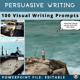 Persuasive Writing 100 Visual Writing Prompts w/ EDITABLE Opinions / Positions