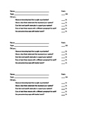 Persuasive Writing 25 Point Scoring Sheet
