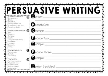 Persuasive Writing Templates
