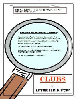 Persuasive Writing Activity:  Dropping Atomic Bombs on Japan?