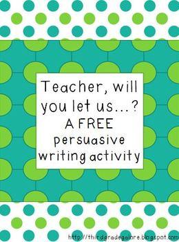 Persuasive Writing Activity Freebie
