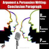 Persuasive Argument Writing Conclusion Paragraph