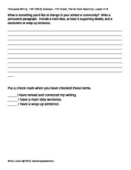 Persuasive Writing Assignment