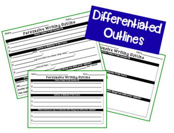 Persuasive Writing Brainstorming, Graphic Organizer, Draft and Publishing Paper
