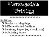 Persuasive Writing Brainstorming, Graphic Organizer, Draft