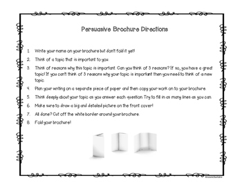 Persuasive Writing Brochure Template {Great for the Election!}
