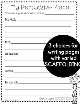Persuasive Writing Bundle ~ 2nd Grade 3rd Grade Persuasive Writing Activities