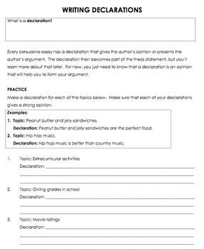 Persuasive Writing Bundle - Graphic Organizers & More